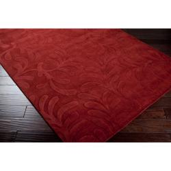 Candice Olson Loomed Hand-crafted Halifax Floral Pllush Wool Rug (9' x 13')
