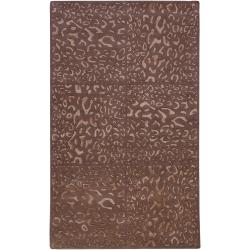 Candice Olson Hand-tufted Leopard Animal Print Bernina Wool Rug (9' x 13')