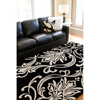 Candice Olson Hand-tufted Tux Damask Pattern Wool Rug (8' x 11')