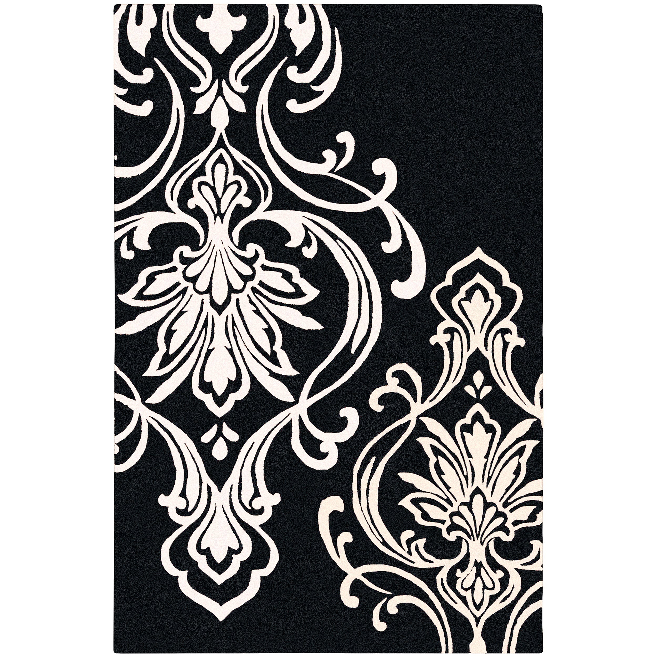Candice Olson Hand-tufted Tux Damask Pattern Wool Rug (9' x 13')