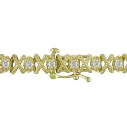 Miadora 10k Yellow Gold 1ct TDW Diamond Tennis Bracelet (G-H, I3)