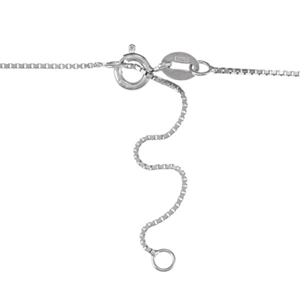 Kabella Sterling Silver Drop Freshwater Pearl with Cubic Zirconia By-pass Wave Necklace (8-9mm)