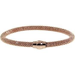 Eternally Haute Rose Gold over Silver Mesh Bracelet