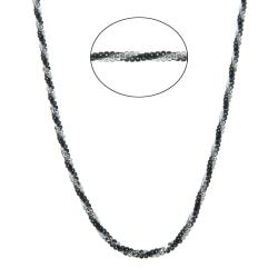 Eternally Haute Italian Black Rhodium over Silver Diamond-cut Roc Chain