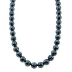 Eternally Haute 10mm Hematite 30-inch Macrame Necklace