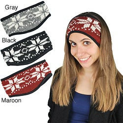Women's Snowflakes Wool-blend Headband (Nepal)