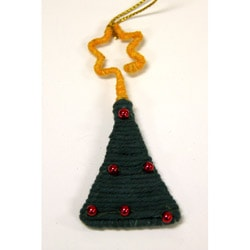 Yarn Christmas Tree Ornament (Colombia)