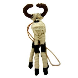 Yarn Cow Ornament (Colombia)