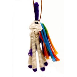 Yarn Unicorn Ornament , Handmade in Colombia