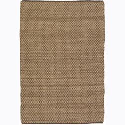 Hand-woven Mandara Flat-weave Rug (7'9 x 10'6)