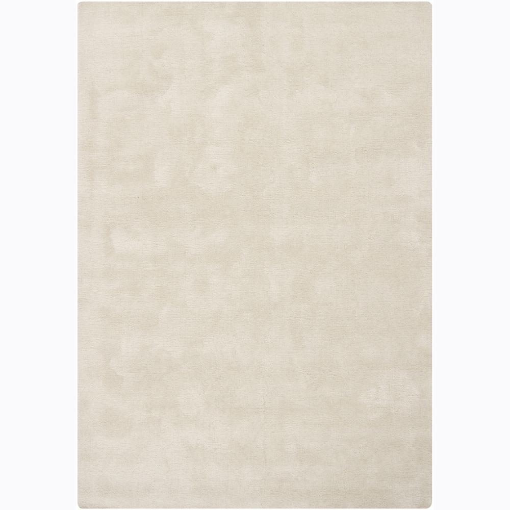 Hand-tufted Mandara Solid White Rug (5'3x7'7)