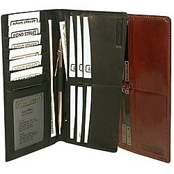 Men's Hand Stained Italian Leather Breast Pocket Organizer