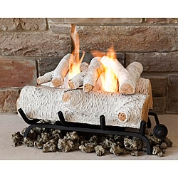 Real Flame Birch 18-inch Convert-To-Gel Log Set
