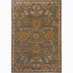 Mandara Hand-Tufted Transitional Oriental Grey Wool Rug (5' x 7')