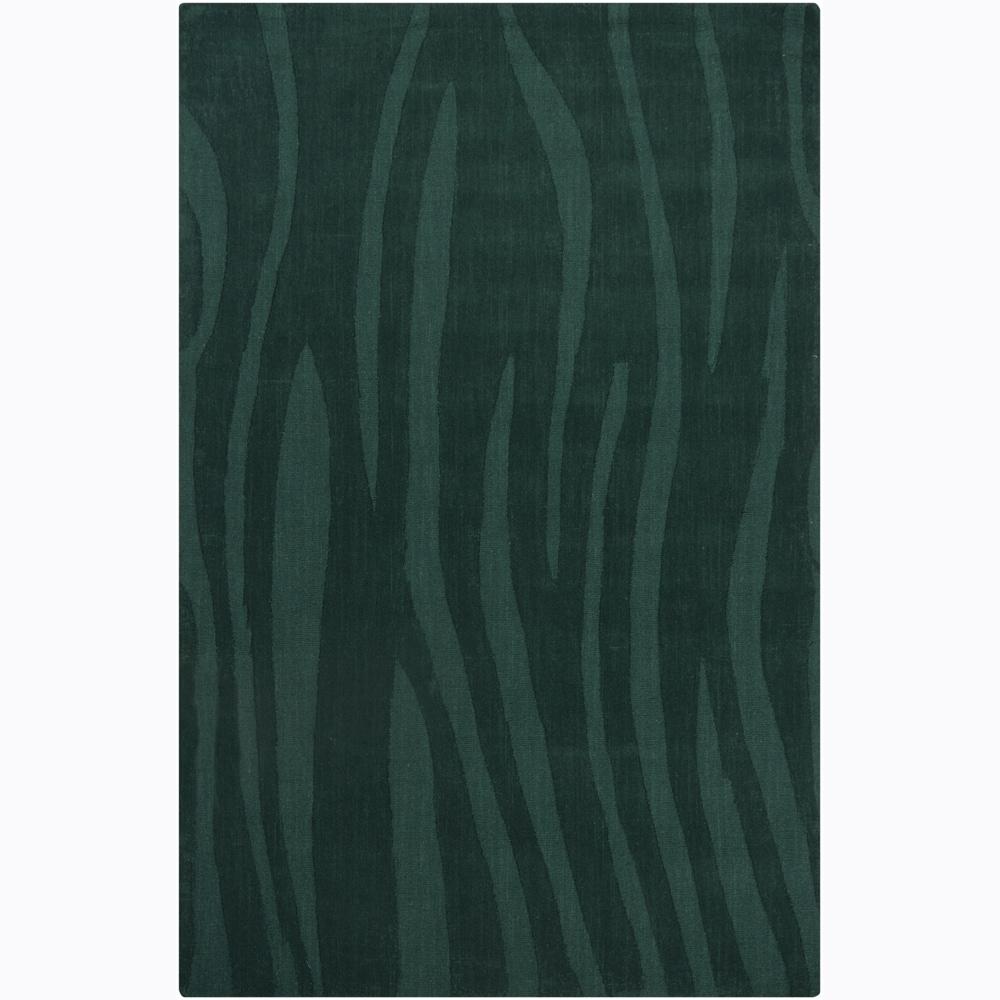 Hand-tufted Mandara Green Geometric Wool Area Rug (5' x 7'6)