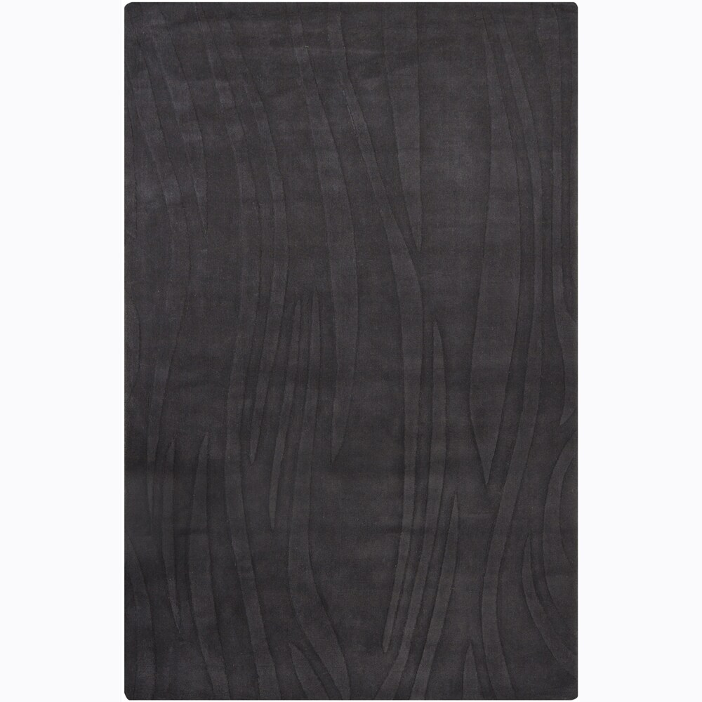 Hand-tufted Mandara Grey Geometric Wool Rug (5' x 7'6)