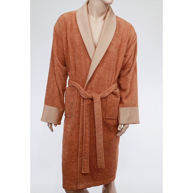 Unisex Authentic Hotel and Spa Turkish Cotton Rust Brown Bath Robe