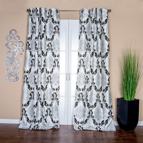 "Arabella 84""L Flocked Curtain Panel"