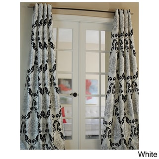 Arabella Flocked Curtain Panel