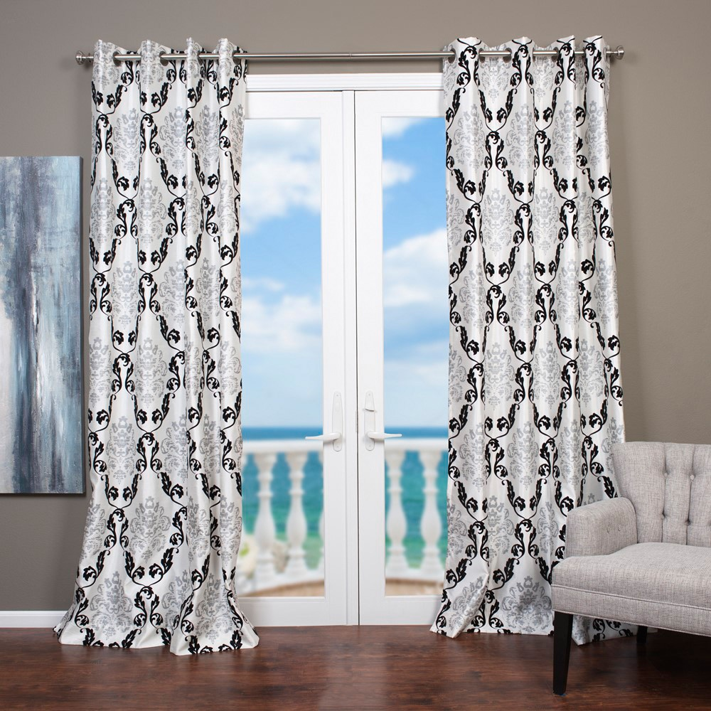 "Arabella 96""L Flocked Curtain Panel at Sears.com"