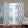 "Arabella 96""L Flocked Curtain Panel"