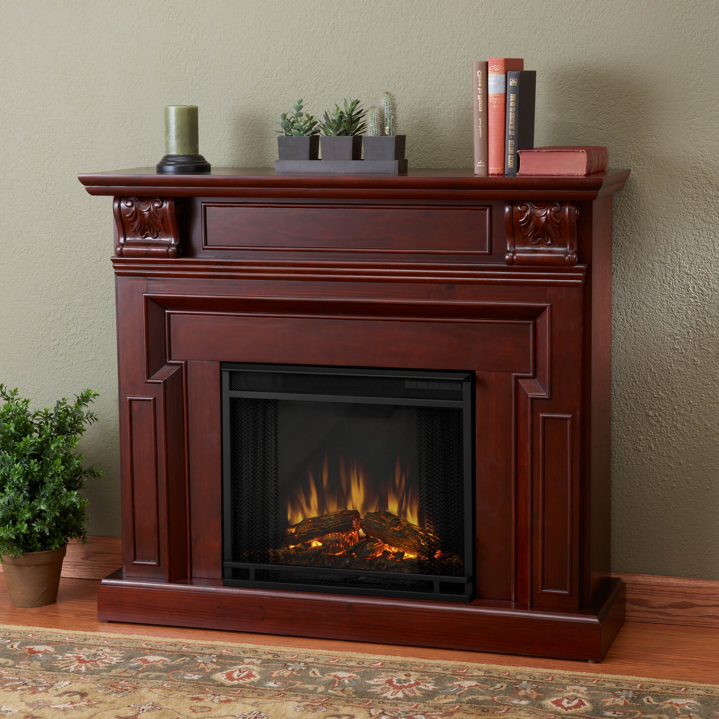 Real Flame Kristine Mahogany Electric Fireplace at Sears.com