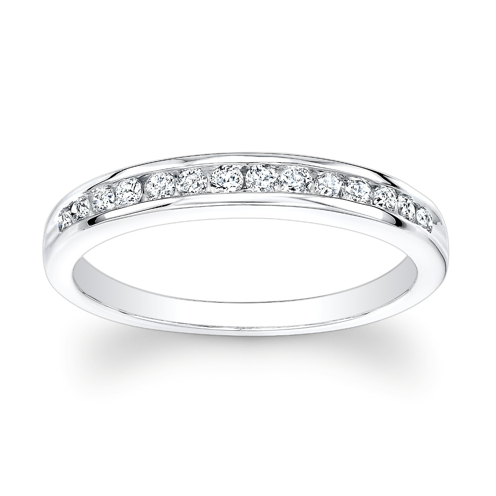 14k Gold 1/2ct TDW Channel-set Round Diamond Eternity Band (H-I, I1-I2)