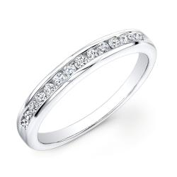 14k White Gold 1/2ct TDW Channel-set Round Diamond Eternity Band (H-I, I1-I2)