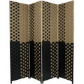 Olive/Black Fiber Weave 6-foot Room Divider (China)