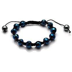 Helio Blue Macrame Bracelet