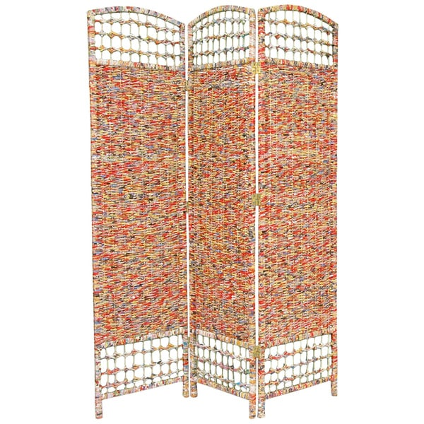 Recycled Magazine 5.5-foot Tall Room Divider (China)