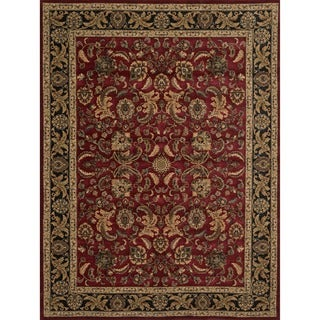 Dorchester Red/ Charcoal Rug (3'9 x 5'6)
