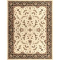 "Dorchester Beige/ Charcoal Powerloomed Rug (3'9"" x 5'6"")"