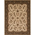 "Dorchester Beige/ Charcoal Powerloomed Rug (5'2"" x 7'7"")"