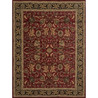 "Dorchester Red/ Charcoal Powerloomed Rug (5'2"" x 7'7"")"