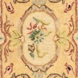 Safavieh Handmade Light Gold/ Beige Hand-spun Wool Rug (2' x 3')