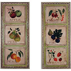Fruit Plaques Set of 2 Rect