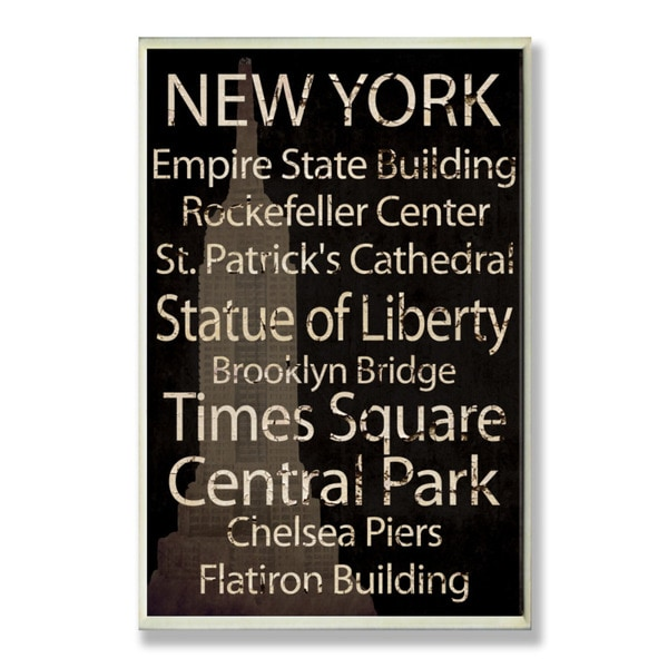 New York Plaque Rect