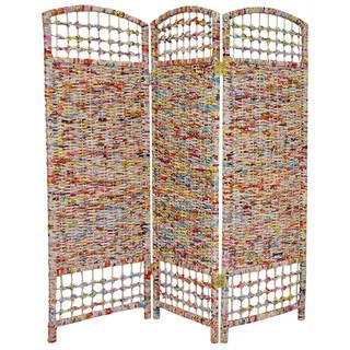 Handmade 4' Recycled Magazine Room Divider
