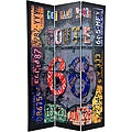 6 ft. Tall Double Sided Americana Room Divider (China)