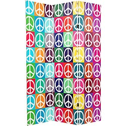 6 ft. Tall Double Sided Peace Room Divider (China)