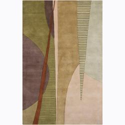 Hand-tufted Mandara Geometric Wool Rug (5' x 7'6)