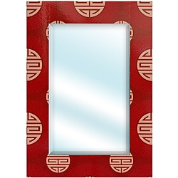 Red Shou Rectangular Mirror (China)