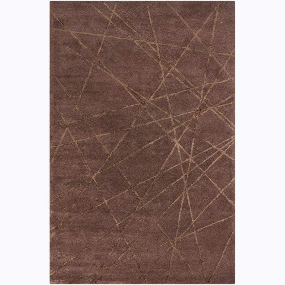 Artist's Loom Hand-tufted Contemporary Geometric Wool Rug (5'x8')