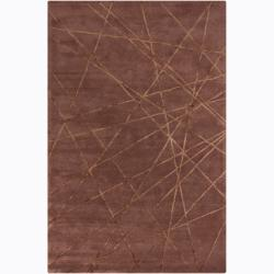 Hand-tufted Mandara Brown Geometricl Rug (5' x 8')
