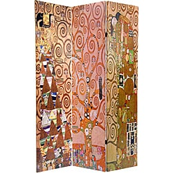 Double-sided 6-foot 'Stoclet Frieze' Works of Klimt Room Divider (China)