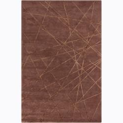 Hand-tufted Mandara Brown Geometricl Rug (8' x 10')
