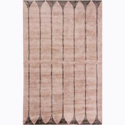 Hand-Tufted Beige Mandara Geometric Rug (5' x 8')