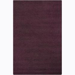 Hand-tufted Mandara Purple Geometric Wool Rug (5' x 7'6)