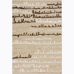 Hand-tufted Mandara Ivory Geometric Rug (7'9 x 10'6)